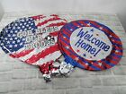 LOT/20 Patriotic Foil Mylar Balloons Military Welcome Home USA Stars Stripes
