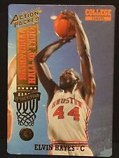 ELVIN HAYES 1993 Action Packed 24 KT GOLD Hall of Fame Card #53G Houston Cougars