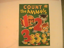 """1950 Count the Animals 123 Samuel Lowe Company Giant Sized 12.75"""" x 9.25"""""""