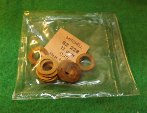 1 PKG OF 12 MITCHELL 206 207 208 209 218 219 FISHING REEL Shim Washers .70 thick
