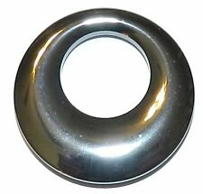 P1461 Dark Silver Metallic Hematite 30mm Go-Go Round Donut Gemstone Pendant Bead