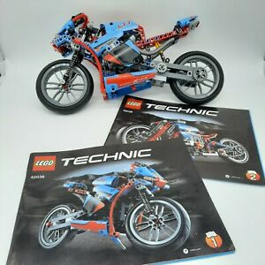 Lego Technic Street Motorcycle Set No 42036 with 2 Manuals - 99% Complete