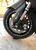 Adesivi ruote moto strisce cerchi YAMAHA TMAX 500 tmax 530 adesivi Cromo Cromato