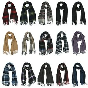 Scarf with Fringed Ends for Men - Plaid or Solid - 65 inches - Croft & Barrow