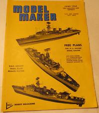 Model Maker Magazine, June 1964, Ships, Boats, Ashanti, Petrel, Pilot, Bounty