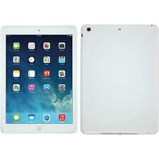 Funda de silicona Apple iPad Air S-Style - blanco + protector de pantalla