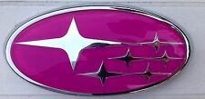 Subaru Legacy Forester WRX Pink STI Grille Badge Emblem Grill 2006-2009
