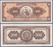 PERU P87a***500 SOLES DE ORO***ND 20-09-1963***XF/VF**SEE FULL DESCRIPTION