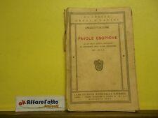 L 5.733 LIBRO FAVOLE ESOPICHE LETTURE GRECHE DI ANGELO TACCONE 1937