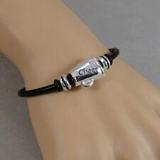 Cheerleader Bracelet - Cheerleading Megaphone Charm Bracelet - Cheerleader Gift