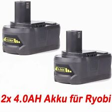 2x 18V 4.0AH Akku für RYOBI One+ RB18L25 RB18L50 P108 P107 P104 P780