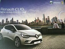 NEW Catalogue brochure Katalog t RENAULT CLIO EDITION ONE 8 PAGES ANNEE 2016