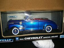 1/18 Welly 1941 Chevrolet Special Deluxe conv. in blue