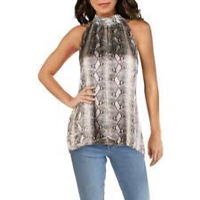Generation Love Womens Jordan Silk Blend Snake Print Halter Top Blouse BHFO 0301