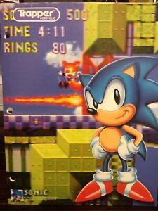 Vintage 1994 Sonic the Hedgehog Trapper Portfolio 2 Pocket Folder~3 Hole Punch~