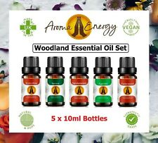 WOODLAND Essential Oil Set Pure Essential Oils Aromatherapy Diffuser Burner
