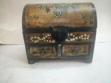 Old Vintage Small Chest of Drawers / Storage Box/ Jewelry Box Retro Painted