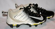 NIKE VAPOR FASTFLEX WHITE BLACK BOYS YOUTH SOCCER CLEATS 13C SHOES LACE UP
