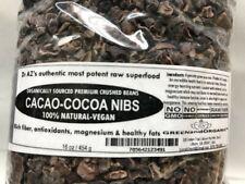 Raw Cacao/Cocoa Nibs 100%Pure Kosher 1lb Raw Chocolate Arriba Nacional Bean 16oz