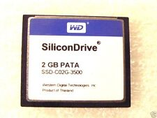 SiliconDrive 2GB CF WD SSD-C02G-3500 COMPACTFLASH TESTED PATA Free Ship
