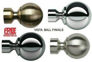 VISTA Speedy Pristine Poles Apart 28mm End Ball Finials, 2 Finials(1 Pair)