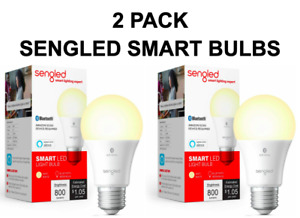 2 PACK Sengled Smart Bluetooth MESH LED A19 Bulb Alexa - Soft White, NEW SEALED