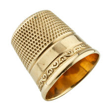 10k Yellow Gold Victorian Era Sewing Thimble 3.2 grams