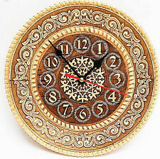 Holz Birkenrinde Wanduhr Uhr Zeitmesser Analog Clock Öko Organikprodukt Handmade