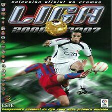 LIGA ESTE 2006 2007 ESCOGE 5 CROMOS DEL LISTADO 1€