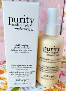 Philosophy Purity Made Simple Ultra-light Moisturizer 4.7 OZ. Hydrate NEW Boxed