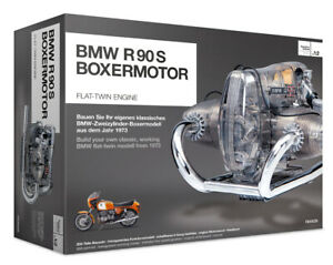 """BMW R/90-S Flat Twin """"Airhead"""" Engine Model Kit with Collector's Manual"""