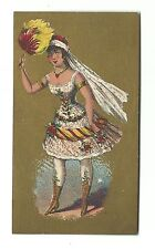 Old Trade Card Marble Hall Gentlemen's Clothing Morris Gross Woman Feather Fan