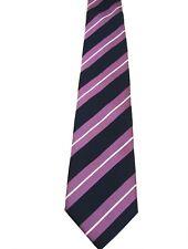 HILDITCH y llave corbata púrpura oscuro azul y blanco de rayas