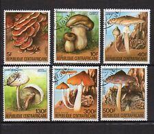 champignon REPUBLIQUE CENTRAFRICAINE 1984 6 timbres oblitérés /T4123