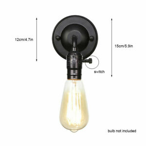 Loft Antique wall lamp with pull chain or knob switch, black bronze wall sconces