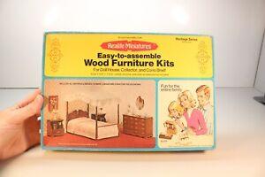 Realife Miniatures Wood Furniture Heritage Series Bedroom 188 Kit ...M04