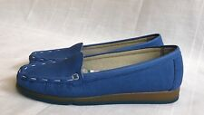 HUSH PUPPIES 'THE BODY SHOE' WOMEN'S COMFORT CURVE BLUE LEATHER SHOES SIZE 6.5 M