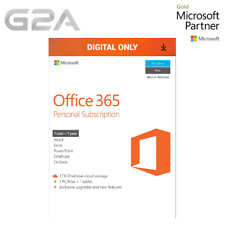 Microsoft Office 365 Personal 1 Device / 1 Year Subscription - PC & Mac Key