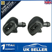 2x Front Windscreen Wiper Washer Jets Jet Nozzle Spray 6438Z1 For Peugeot 407 UK