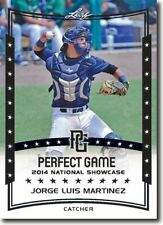 10-Count Lot JORGE LUIS MARTINEZ 2014 Leaf Perfect Game All-American Rookies
