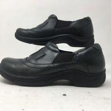 Dansko Womens Kappy Clogs Shoes Black Leather Slip On Round Toe EUR 38 7.5-8