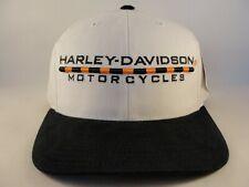 Harley Davidson Vintage Strapback Hat Cap American Needle White Black