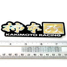 "Kakimoto Racing Car Japan Reflect Light Sticker 1x4.5"" Gold"