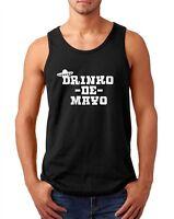 Mens Tank Top Drinko de Mayo Shirt Drinking T-Shirt Funny Mexico Tee Party