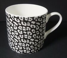 Portobello by Inspire Tea Coffee Mug Leopard Black & White England 14 oz