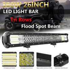 26INCH 5D 12/24V LED Work Light Bar 360W Flood Spot Combo Beam Offroad Work Lamp
