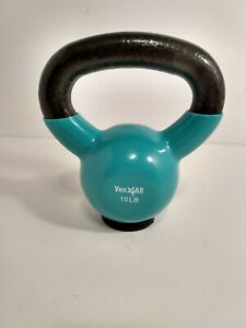 Yes4All Vinyl Coated Kettlebell 10 LB New Without Box or Tags in good condition