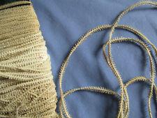 """Lacet à dentelle ancien XIXè """"mignardise"""" pour crochet  14,5 m"""