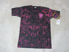 NEW VINTAGE Body Heat Shirt Adult Large Pink Black All Over Print Mens 90s E9