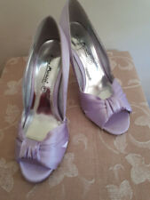 ANNE MICHELLE Lilac - Peep Toe - Satin Shoes - ExCondition